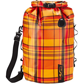 SealLine Discovery Dry Bag 50L, orange plaid